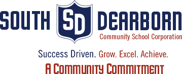 South Dearborn Red and White Logo